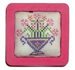 Praiseworthy Stitches - Posey Minder Pynchusion - Cross Stitch Kit-Praiseworthy Stitches, Posey Minder Pynchusion, magnet, pin keep, pin cushion, Cross Stitch Kit,