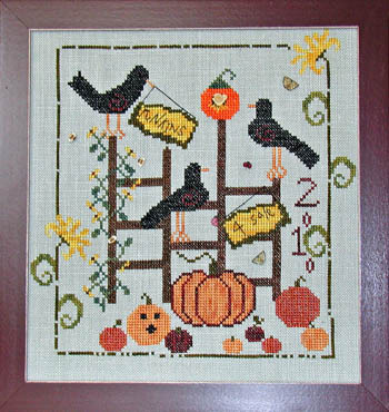 Praiseworthy Stitches - Punkins 4 Sale - Cross Stitch Pattern