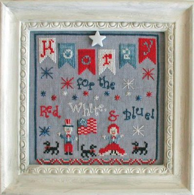 Praiseworthy Stitches - Hooray for the Red White & Blue-Praiseworthy Stitches - Hooray for the Red White  Blue, USA, American, July 4th, cross stitch