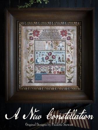 Plum Street Samplers - A New Constellation-Plum Street Samplers - A New Constellation, Betsy Ross, USA, patriotic, America, sampler, cross stitch
