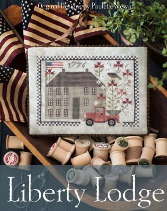 Plum Street Samplers - Liberty Lodge-Plum Street Samplers - Liberty Lodge, red truck, USA, patriotic, 1776, cross stitch