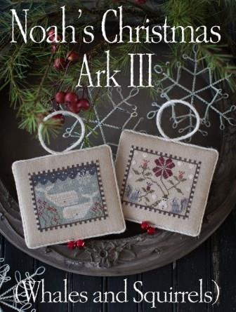 Plum Street Samplers - Noah's Christmas Ark lll-Plum Street Samplers - Noahs Christmas Ark lll, ornaments, whale, squirrels, animals, Christmas, cross stitch