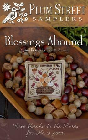 Plum Street Samplers - Blessings Abound-Plum Street Samplers - Blessings Abound, Fall, Thanksgiving, pincushion,