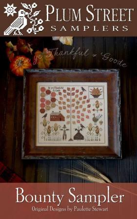 Plum Street Samplers - Bounty Sampler-Plum Street Samplers - Bounty Sampler, Fall, Thanksgiving, blessings, harvest,