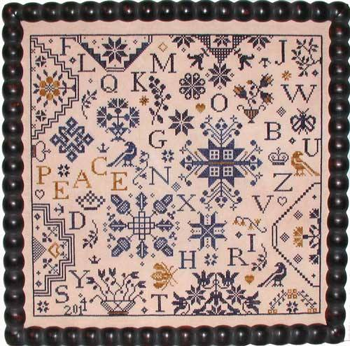 Praiseworthy Stitches - Simple Gifts - Peace - Cross Stitch Pattern