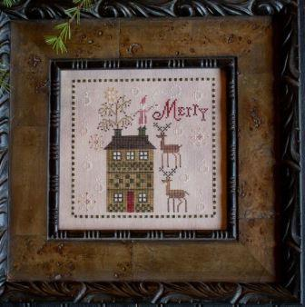 Plum Street Samplers - Merry Brew-Plum Street Samplers - Merry Brew, Santa Claus, reindeer, Christmas, cross stitch, primitive,