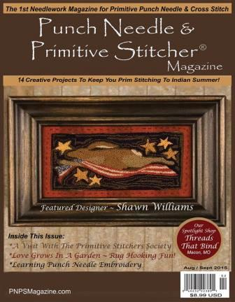 Punch Needle & Primitive Stitcher Magazine 2015 - Issue  2 - Fall-Punch Needle  Primitive Stitcher Magazine 2015 - Issue  2 - Fall,cross stitch, samplers,