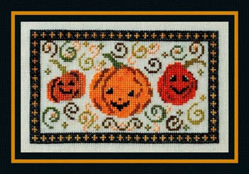Turquoise Graphics & Designs - Pumpkin Patch - Cross Stitch Pattern-Turquoise,Graphics,Designs,Pumpkin,Patch, Cross,Stitch,Pattern, fall, Halloween, orange, smile, thanksgiving,