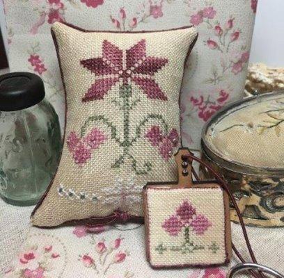 The Purple Thread - Sturbridge Roses-The Purple Thread - Sturbridge Roses, flowers, hornbook, pin cushion, cross stitch