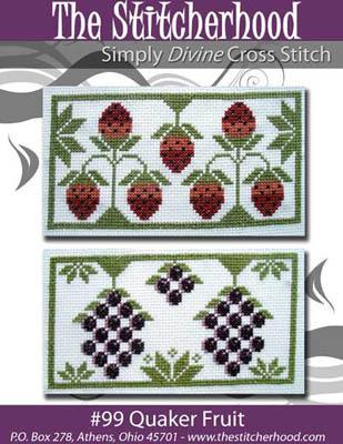 The Stitcherhood - Quaker Fruit - Cross Stitch Pattern-The Stitcherhood -Quaker Fruit - Cross Stitch Pattern