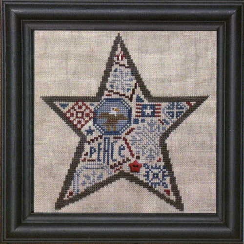 Bent Creek - Quaker Star - Cross Stitch Chart-Bent Creek - Quaker Star - Cross Stitch Chart