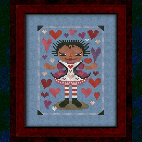 Carousel Charts - RagAnee Hearts - Cross Stitch Pattern-Carousel Charts - RagAnee Hearts - Cross Stitch Pattern