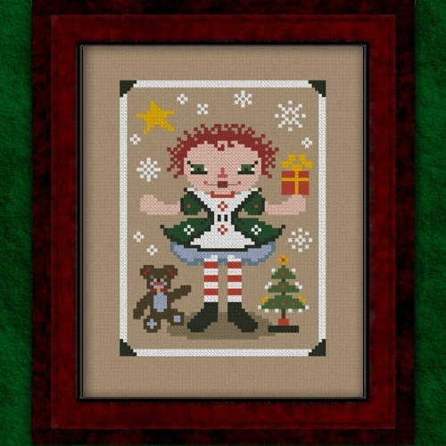 Carousel Charts - RagAnee Christmas - Cross Stitch Pattern-Carousel Charts - RagAnee Christmas - Cross Stitch Pattern