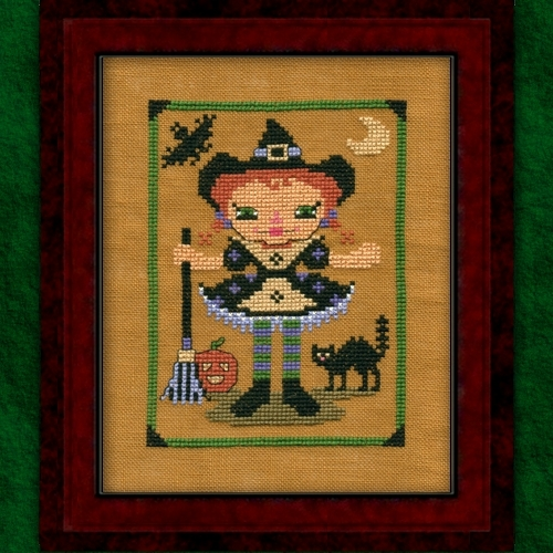 Carousel Charts - RagAnee Halloween - Cross Stitch Chart-Carousel Charts - RagAnee Halloween Scrapbooker - Cross Stitch Chart