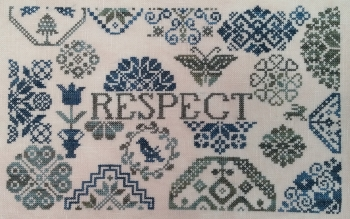 ByGone Stitches - Quaker Patriotic Respect-ByGone Stitches - Quaker Patriotic Respect, flowers, cross stitch