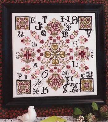 Rosewood Manor - Four Corners - Cross Stitch Pattern-Rosewood Manor, Four Corners, flowers,Utah, Arizona, Colorado, New Mexico, quilt blocks, sampler, Cross Stitch Pattern