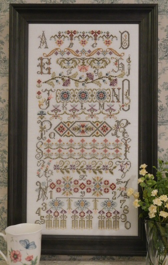 Rosewood Manor - Bucklebury Sampler - Cross Stitch Pattern-Rosewood Manor, Bucklebury Sampler, Britain royal couple, welcome, samplers, Beach Cottage Stitchers,  Cross Stitch Pattern