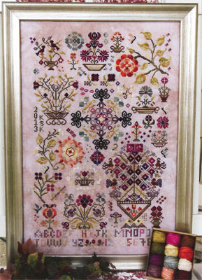 Rosewood Manor - Summer Quakers - Cross Stitch Pattern-Rosewood Manor, Summer Quakers, flowers, Cross Stitch Pattern