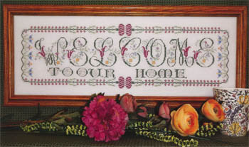 Rosewood Manor - Many, Many Welcomes - Welcome - Cross Stitch Pattern-Rosewood Manor, Many, Many Welcomes, welcome to our home, Welcome - Cross Stitch Pattern