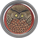 Just Nan - Barney Owl Needle Tin-Just Nan - Barney Owl Needle Tin, Fall, cross stitch, needle box, owls, magnetic box, pins,