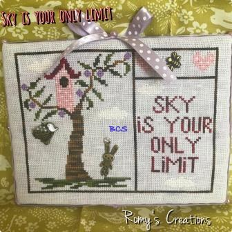 Romy's Creations - Sky is Your Only Limit-Romys Creations - Sky is Your Only Limit, goals, bunny, trees, cross stitch, accomplishments,