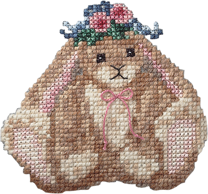 Just Nan - Blossom Bunny-Just Nan - Blossom Bunny, rabbit, bunnies, Easter, floppy ears, cross stitch