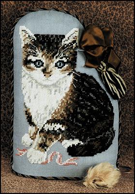 Just Nan - Calico Kate-Just Nan - Calico Kate, cats, kitty, door stop, cross stitch