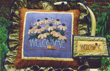 SamSarah Design Studio - Autumn Welcome - Cross Stitch Pattern-SamSarah Design Studio - Autumn Welcome - Cross Stitch Pattern