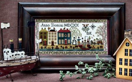 The Sampler Company - Puritan Sampler-The Sampler Company - Puritan Sampler, pilgrims, quakers, early America, cross stitch