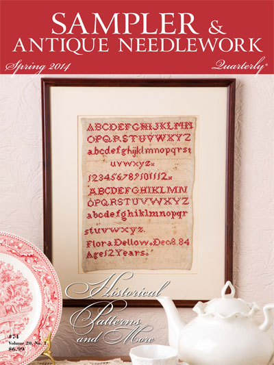Sampler & Antique Needlework Quarterly - 2014 - Spring-Sampler  Antique Needlework Quarterly, magazine,  Spring 2014,