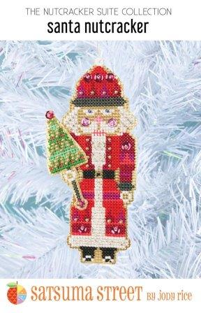 Satsuma Street - Nutcracker Suite - Santa Nutcracker Ornament Kit-Satsuma Street - Nutcracker Suite - Santa Nutcracker Ornament Kit, Christmas, ornament, cross stitch