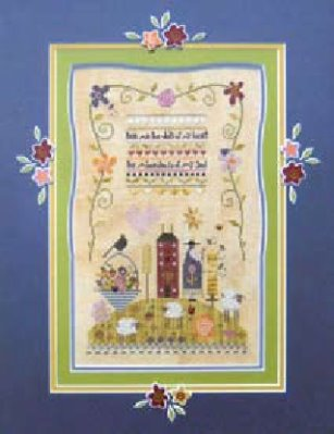 Shepherd's Bush - Abundance - 2015 Nashville Spring Market Release - Cross Stitch Kit-Shepherds Bush - Abundance - 2015 Nashville Spring Market Release - Cross Stitch Kit Spring, home, Easter, flowers, sheep