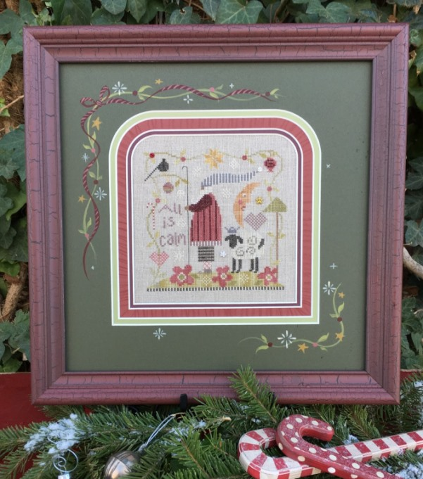 Shepherd's Bush - All is Calm Kit-Shepherds Bush - All is Calm Kit, Christmas, sheep, country, cross stitch, shepherd,