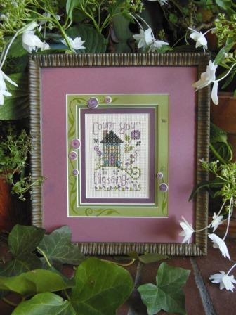 Shepherd's Bush - Count Your Blessings - Cross Stitch Kit-Shepherds Bush, Count Your Blessings Kit, house, home, gratitude, cross stitch,