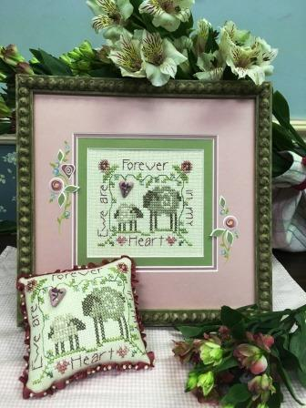Shepherd's Bush - Ewe Are Forever in My Heart Kit-Shepherds Bush - Ewe Are Forever in My Heart Kit, sheep, love, cross stitch