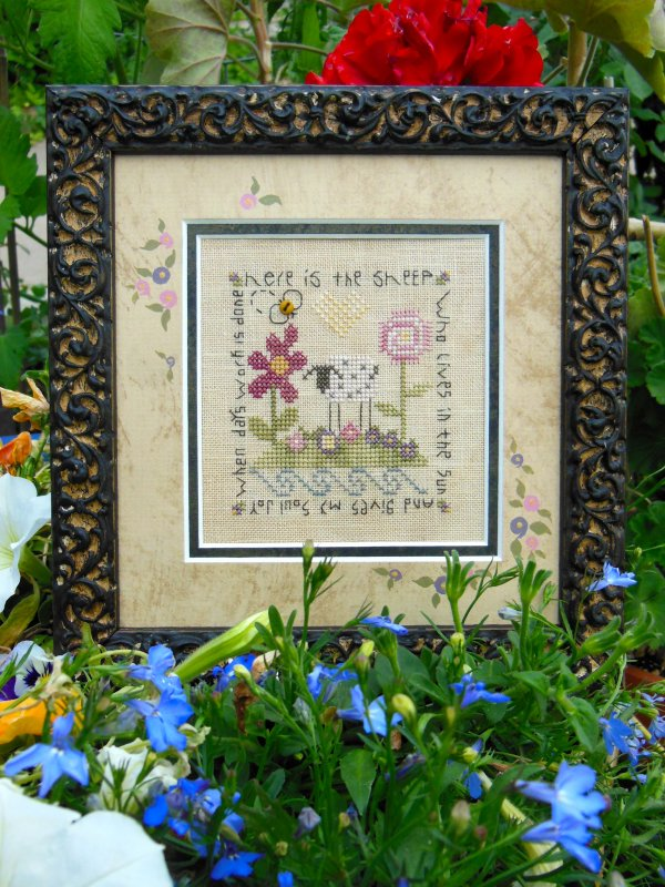 Shepherd's Bush - Garden Sheep - Cross Stitch Kit