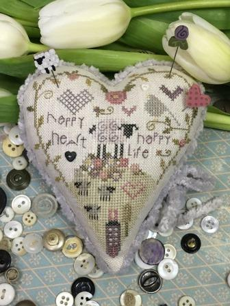 Shepherd's Bush - Happy Life Pincushion Kit-Shepherds Bush - Happy Life Pincushion Kit -