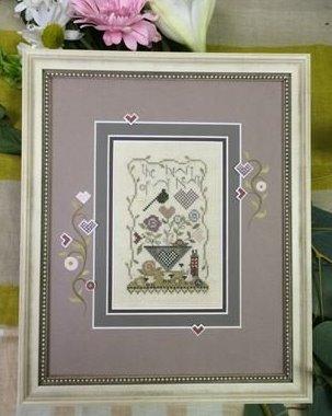 Shepherd's Bush - Heart of my Heart Kit-Shepherds Bush, Heart of my Heart Kit, love, hearts, basket, snail, cross stitch