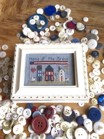 Shepherd's Bush - Home Of The Brave Kit-Shepherds Bush - Home Of The Brave Kit, USA, patriotic, America, cross stitch
