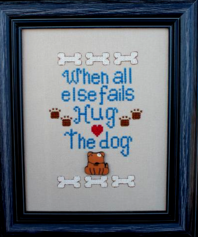 The Stitching Bear - Hug the Dog - Cross Stitch Pattern