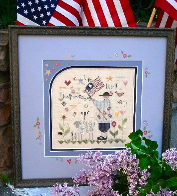 Shepherd's Bush - Life and Liberty Kit-Shepherds Bush - Life and Liberty Kit - USA, patriotic, American, American flag, cross stitch