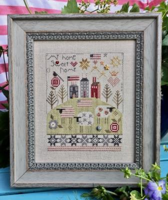 Shepherd's Bush - My Home Sweet Home Kit-Shepherds Bush - My Home Sweet Home Kit, 4th, home, quilts, sheep, cross stitch