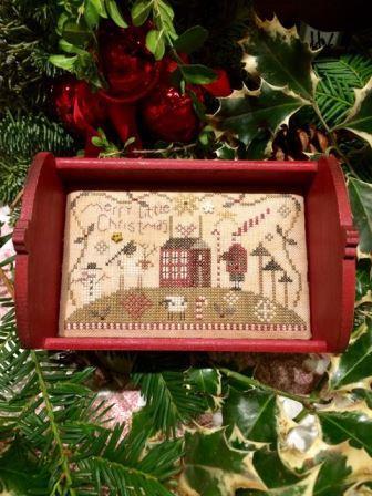Shepherd's Bush - Merry Little Christmas-Shepherds Bush - Merry Little Christmas, sheep, Christmas, serving tray, cross stitch