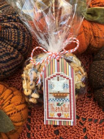 Shepherd's Bush - Thankful Tag-Shepherds Bush - Thankful Tag, Thanksgiving, fall, autumn, leaves, gifts, cross stitch