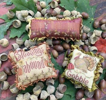 Shepherd's Bush - Thanksgiving Trifles-Shepherds Bush - Thanksgiving Trifles, Grateful, thanksgiving feast, family, gratitude, pin cushions, cross stitch