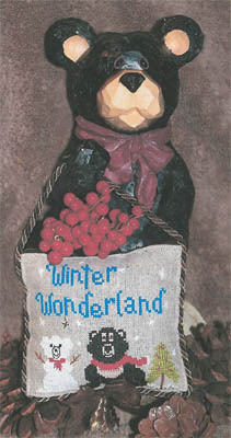 The Stitching Bear - Winter Wonderland-The Stitching Bear, Winter Wonderland, winter ornament, snowman bear, brown bear, Cross Stitch Pattern