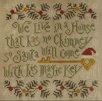 Silver Creek Samplers - Santa's Magic Key-Silver Creek Samplers, Santas Magic Key, Santa Claus, Christmas, Ornament, Cross Stitch Pattern