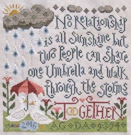 Silver Creek Samplers - Through the Storms-Silver Creek Samplers - Through the Storms, troubles, Faith, cross stitch