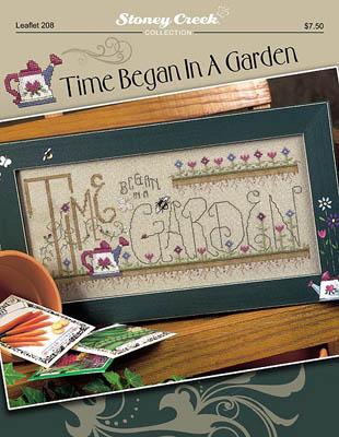Stoney Creek - Time Began In A Garden - Cross Stitch Pattern-Stoney Creek - Time Began In A Garden - Cross Stitch Pattern