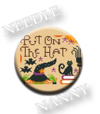 Stitch Dots - Hands On Design - Put on the Hat Needle Nanny-Stitch Dots - Put on the Hat Needle Nanny by Hands On Design,  Halloween, fall, attitude, witch, black cat, magnet